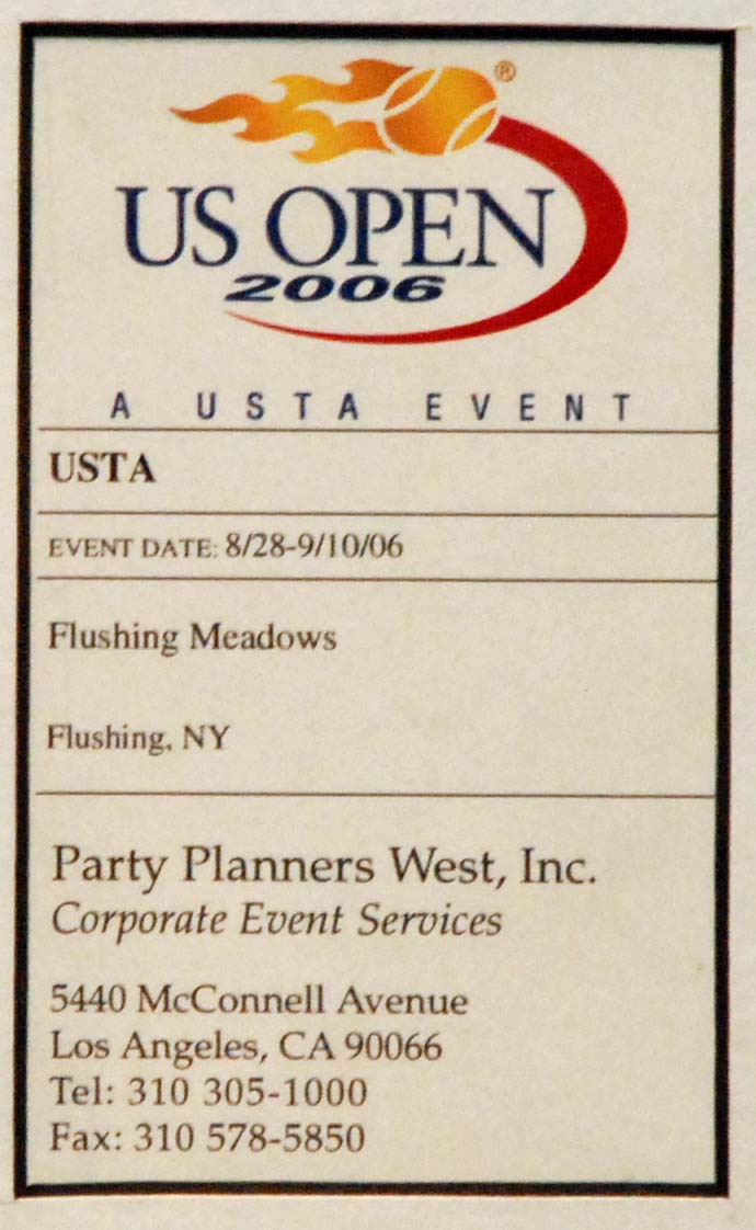 Party Planners West, Inc. Acknowlegement
